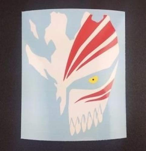 Bleach Ichigo Kurosaki hueca máscara adhesivo para coche portátil de pared 11