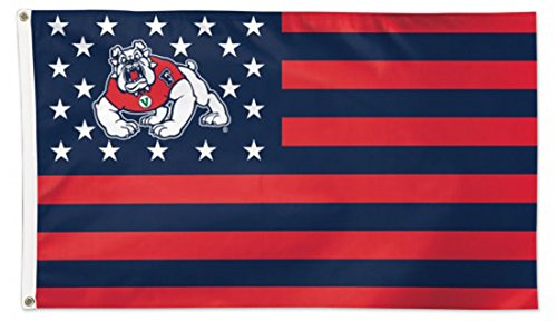 WinCraft Fresno State Bulldogs Deluxe Flag, Patriotic Stars and Stripes Edition, 3 x 5 foot