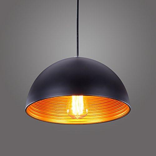 Modern Design Metal Round Screw Pendant Light Home Cafe Shop Ceiling Lamp Chandeliers Black