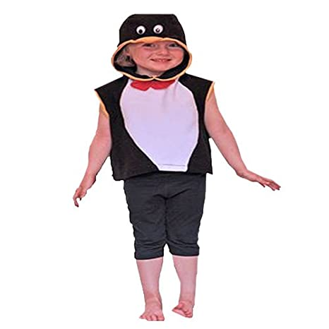 Cheadle - Disfraz de pingüino real infantil, talla 3-5 años ...