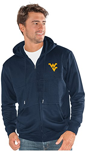 G-III Sports NCAA West Virginia Mountaineers Men's Cadence Full Zip Hoody, 5X-Large, - Virginia West Mountaineers Men Basketball