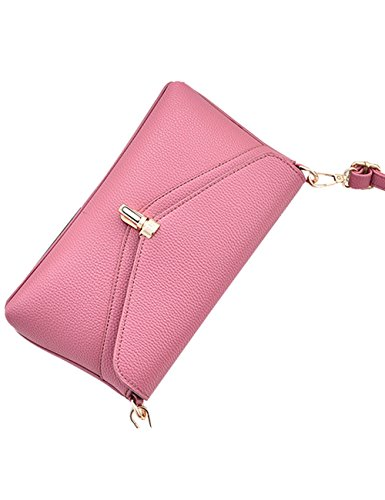 Rouge Grand Ladies Pu Leather Purse Sac Rosé Menschwear À Bandoulière Womens xI8zUn5qw
