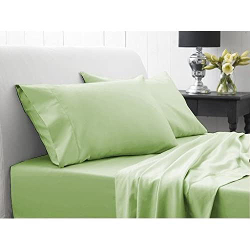 New Laxlinen 450 Thread Count 100% Egyptian Cotton Super Quality 1PC Flat Sheet(Top Sheet) Twin Bed/Single Bed Size, Sage Solid