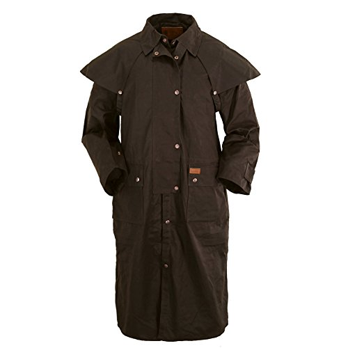 Outback Trading Oilskin Duster Medium Brown