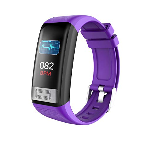 Aobiny Smart Watch,Fitness Tracker Activity Tracker Watch with Heart Rate Monitor, Color Screen Smart Bracelet with Sleep Monitor,IP67 Waterproof Smart Bracelet for Android/iOS (Purple)