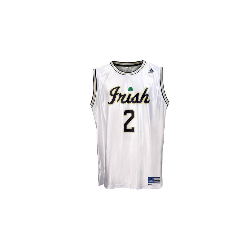 adidas Notre Dame Fighting Irish #2 White Youth Replica Basketball Jersey