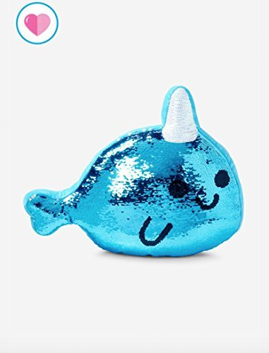 Justice narwhal flip sequin pillow