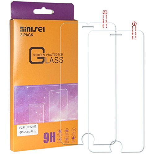 NINISEI IPhone 6Plus/6s Plus Toughened Glass Film Screen Protectors With 0.013 IN Ballistic,2.5D Arc Edge,Protection of Mobile Phone to Preventc Damage to The Screen, Anti Fingerprint.(2-Pack)