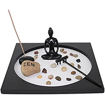 Tabletop Taiji Buddha Zen Garden Sand Rock Incense Burner Gift U0026 Home Decor  (G16298)