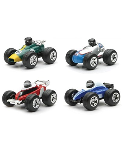 1 Formula Racer - Set of 4 - Mini Pull Back Formula 1 Racer 3 Inch Die Cast Toys
