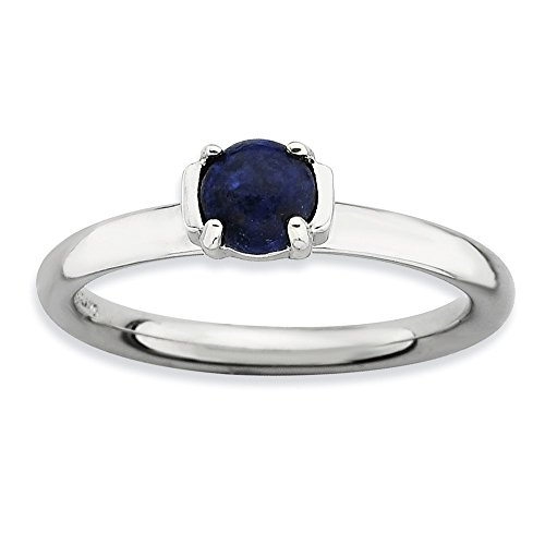 Sterling Silver Stackable Expressions Polished Blue Lapis Ring Size 6 ()