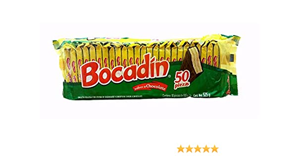 Amazon.com: Bocadin Wafer Snack Cookies, 50 Count Authentic Mexican Candy with Free Chocolate Kinder Bar Included: Toys & Games