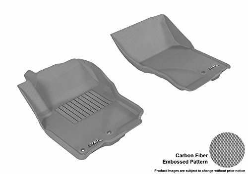 3D MAXpider Front Row Custom Fit All-Weather Floor Mat for Select Nissan Frontier Models – Kagu Rubber (Gray)