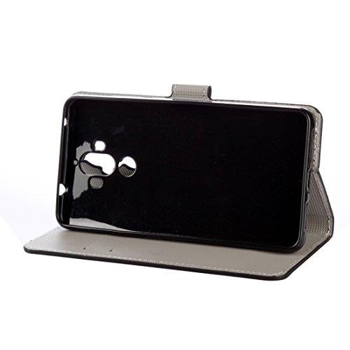 Mobile Phone Cases&decorate Huawei Mate 9 patrón de mariposa azul horizontal Flip caja de cuero con titular y ranuras para tarjetas y cartera ( SKU : Mlc0979p ) Mlc0979n