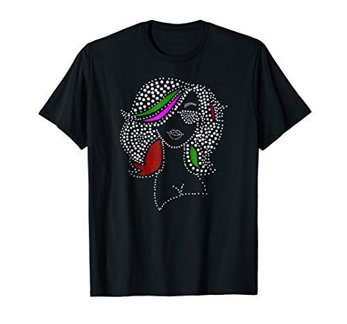 Black Divas are Beautiful Colorful Pointillism Style T Shirt
