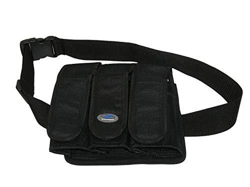 (I & I Sports Deluxe 3-Pocket Paintball 100/140 rd Pod Tube Ball Hauler Pouch Pack Belt Set)