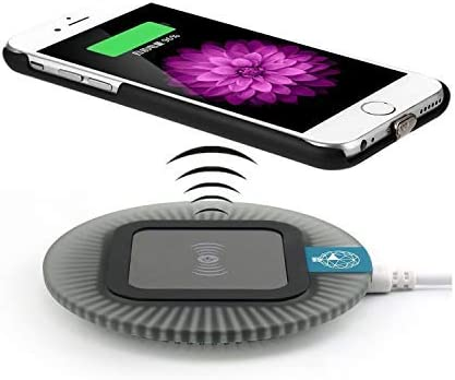 Black Dock Qi Wireless Charger Kit for iPhone 6 and iPhone 6s Including Qi Wireless Charging Pad and Receiver Back Cover