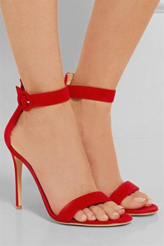 Stiletto A Feminine PU Ladies CLOVER Fashion Shoes Red Satin Heels Kitten Shoes Queen Heel Sandals LUCKY Heel High Princess Blink Girls Bride 5U0xa0F