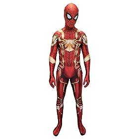 - 41izKHMNmOL - Spider-Man Cosplay Costume | Iron Spider | PS4 Insomniac Spiderman | Bagley | Superior |All New Lycra Fabric | Bodysuit