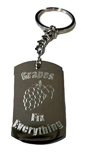 Grape Fix (Grapes Fix Everything - Metal Ring Key Chain Keychain)