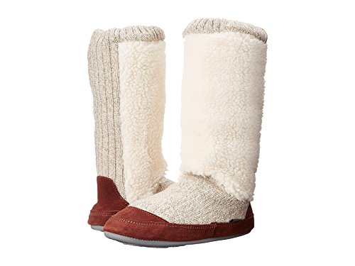 Acorn Women's Slouch Boot Slipper, Buff Popcorn, Small / 5-6 B(M) US