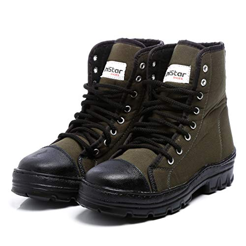 Unistar Antiskid High Ankle Jungle Boot OliveGreen