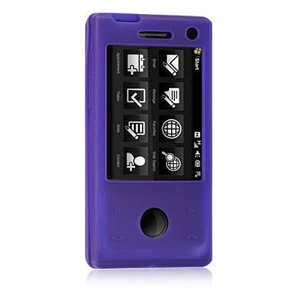 Htc Touch Pro Skin (HTC Fuze / Touch Pro GSM (AT&T) Purple Premium Silicone Skin Case)