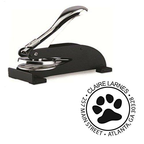 Infusion Custom Dog Paw Logo Desk Embosser Seal - 1.675