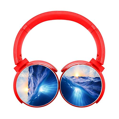Light 9gr (Blue Ocean Light Bluetooth Headphones of Lightweight and Foldable Red Wireless)