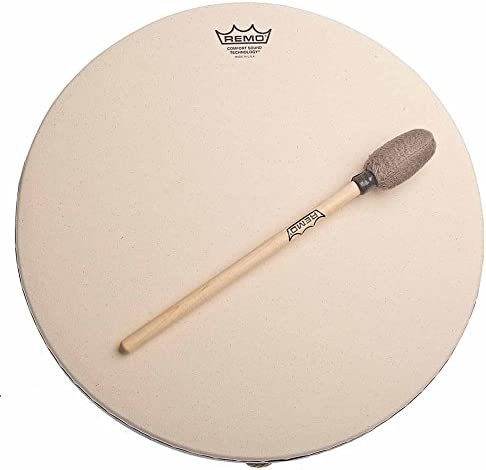 Remo Buffalo Drum with Comfort Sound Technology 16 in. Black
