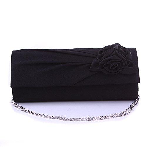 GSPStyle - Cartera de mano para mujer Plateado plata talla única negro