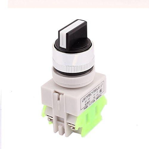 uxcell 押しボタンスイッチ ロータリースイッチ ラッチング 回路制御 回転可能 3ポジション AC 600V 10A