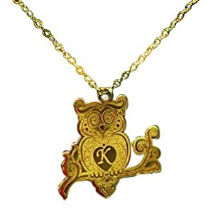 Owl Design Gold Plated Pendant with Chain
