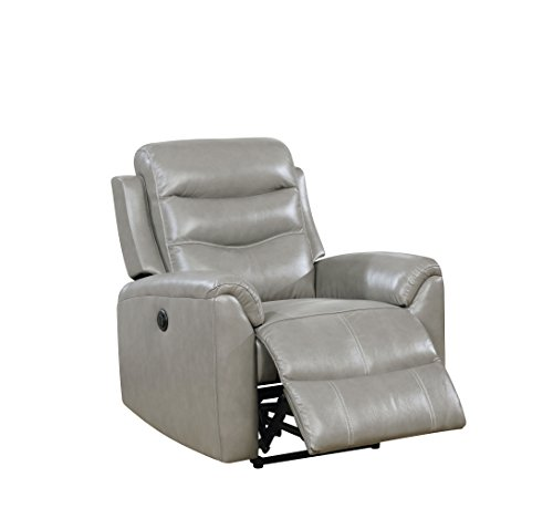 Acme Furniture 59684 Ava Power Recliner, Gray Leather