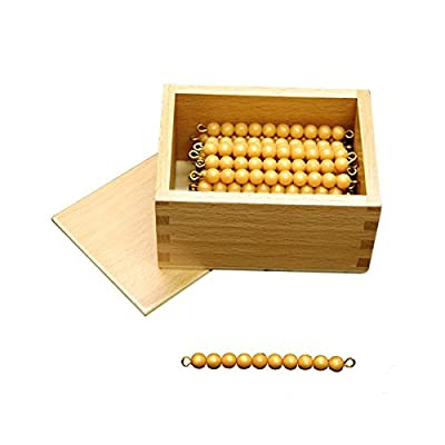 Kid Advance Montessori 45 Golden Bead Bars of 10 with Box: Toys & Games