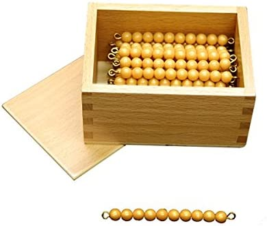 Montessori 45 Golden Bead Bars of 10 with Box Elite Montessori Inc.