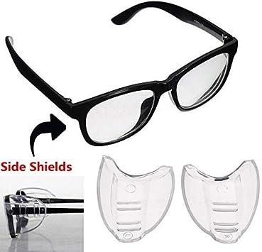 luoOnlineZ - Protector lateral para gafas, flexible, universal, protección para los ojos, 2 unidades