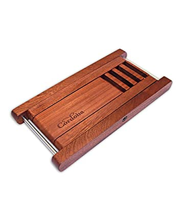 Cordoba Folding Wood Folding Footstool (Rosewood) Guitar Stool