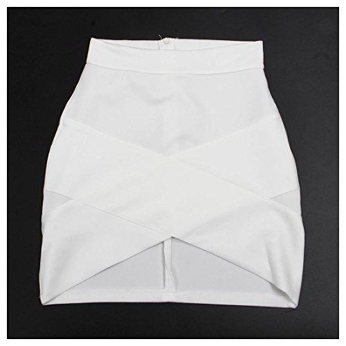 esterno signora elegante esterno sexy del allunga casuale il Pannello XS delle donne Nero della sottile sottile R Bianco femminile pannello TOOGOO Bodycon 8OEIqq