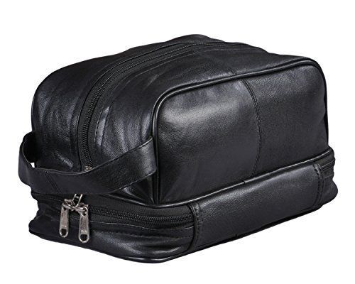 Mens Toiletry Bag Shaving Dopp Case For Travel by Bayfield Bags