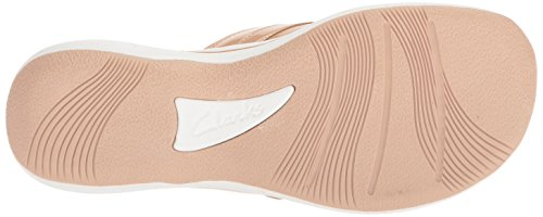 CLARKS Womens Breeze Sea Platform, Nude Synthetic Patent, 11 Medium US