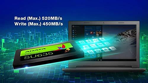 ADATA SU635 960GB 3D-NAND SATA 2.5 Inch Internal SSD with 2.5/3.5 inch SSD Bracket Bundle (ASU635SS-960GQ-R-TRAY)