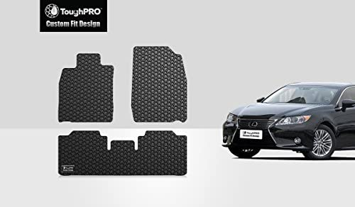 ToughPRO Lexus ES350 Floor Mats Set   All Weather   Heavy Duty   Black  Rubber   2013 2018