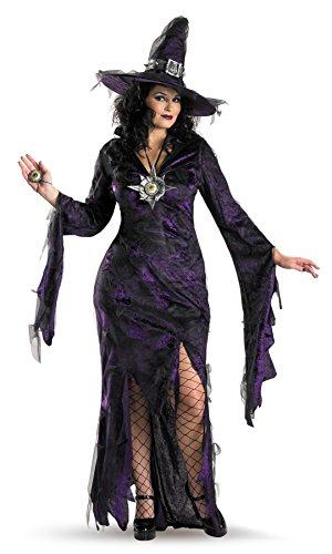 Purple Sorceress Costume (UHC Women's Witch And Sorceress Theme Party Fancy Halloween Costume, X-Large (18-20))