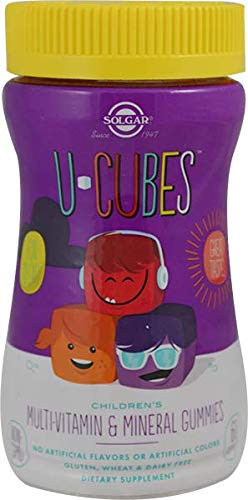 U-Cubes Children's Multi-Vitamin & Mineral Gummies Solgar 60 Gummy