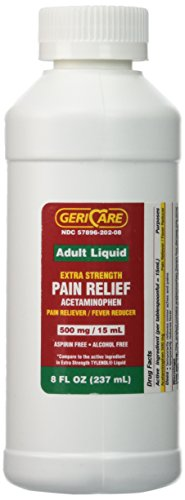 8 Oz Acetaminophen OTC for Extra Strength Liquid Tylenol 500mg 15ml xtra strenth tylenel for adults by Acetaminophen 500mg - Creative Rewards