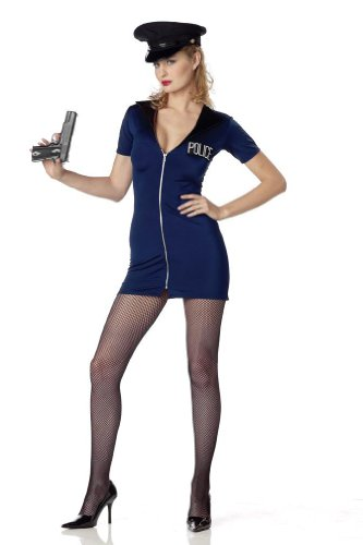 Women Large 8-10 - Rookie Cop Costume (Gun and Stockings Not included)