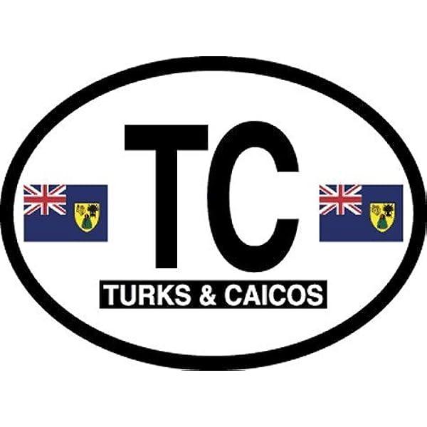 TURKS /& CAICOS ISLANDS COUNTRY VINYL FLAG DECAL STICKER