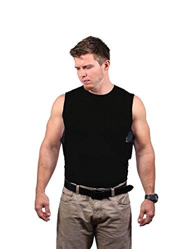 Ridge Shirt Mens Packin Tee Concealment Crew Sleeveless Black 401B