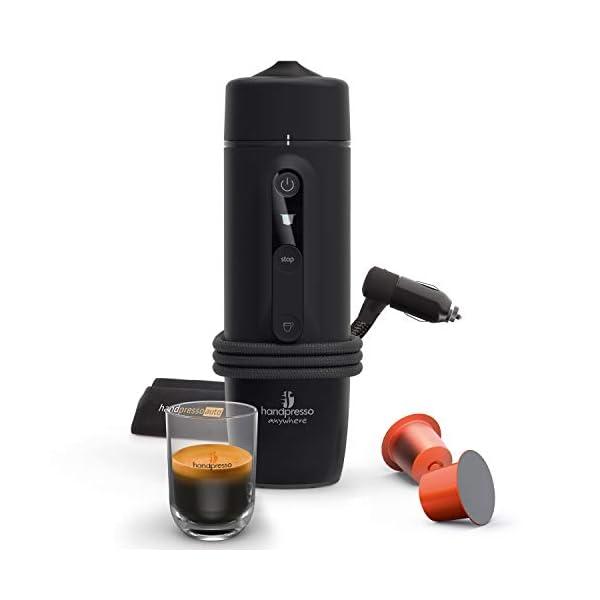41izP0wId9L HANDPRESSO- Handpresso Auto Capsule 21020 NEUES MODELL Tragbare Espresso-Kaffeemaschine für das Auto, PKW und LKW 12V…
